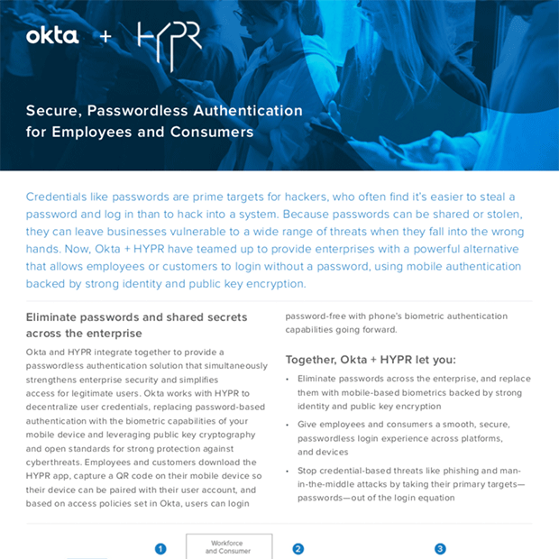 HYPR + Okta Integration Solution Brief