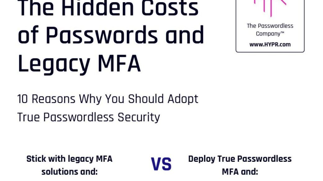 The Hidden Costs of Passwords and Legacy MFA!