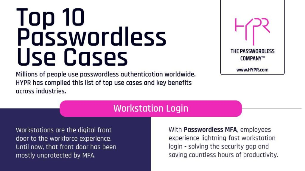 Top 10 Passwordless Use Cases