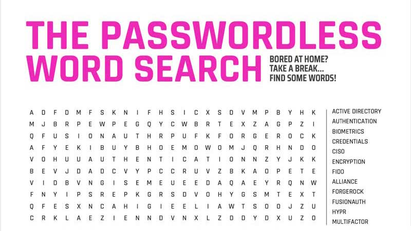 The Passwordless Word Search
